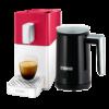 Kép 1/5 - Cremesso Easy Piros/Fehér  Kapszulás kávégép + Tejhabosító