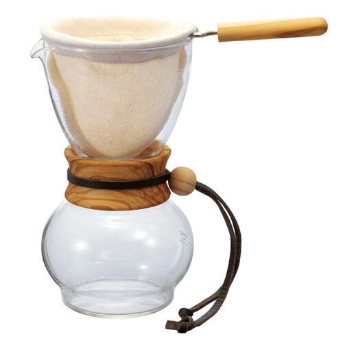 Hario Woodneck Drip Pot Olive - Csepegtető  480ml(DPW-3-OV)