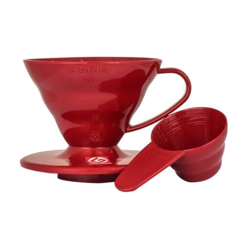 Hario V60 Dripper műanyag piros színű