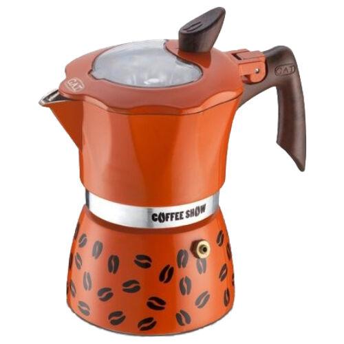 G.A.T. Coffee Show kotyogós kávéfőző 2 csésze - Narancssárga