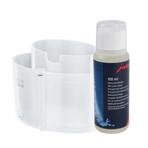Jura tejrendszer tisztító tartály + Jura Cappuccinofej tisztító folyadék