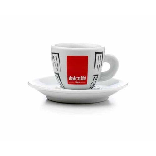 Italcaffe porcelán Espresso csésze + csészealj 6db